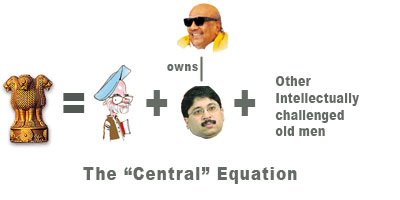 Indian Govt = Singh + DMK + Other goons