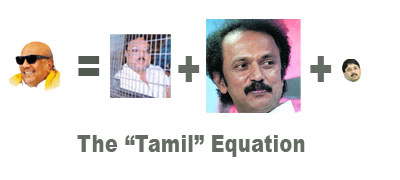 Tamil Govt = Big Stalin + Medium Azhagiri + Tiny, miniscule Maran