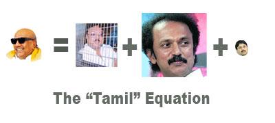 Tamil Govt = Big Stalin + Medium Azhagiri + Tiny, miniscule Maran
